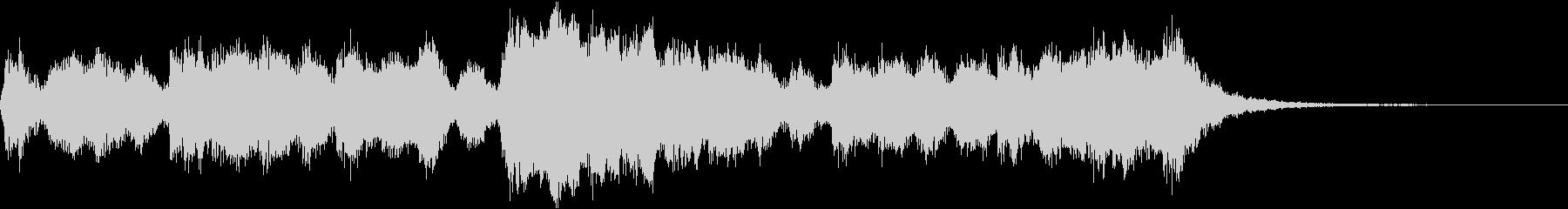 オーケストラによる元気なジングルの未再生の波形