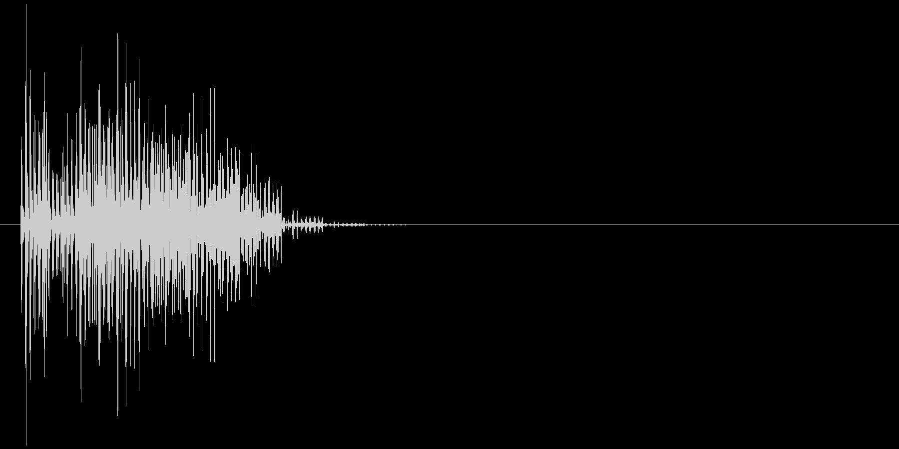 ブブーッ(エラー音、コミカル、丸め)の未再生の波形