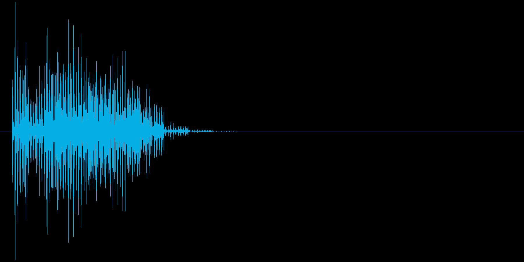 ブブーッ(エラー音、コミカル、丸め)の再生済みの波形