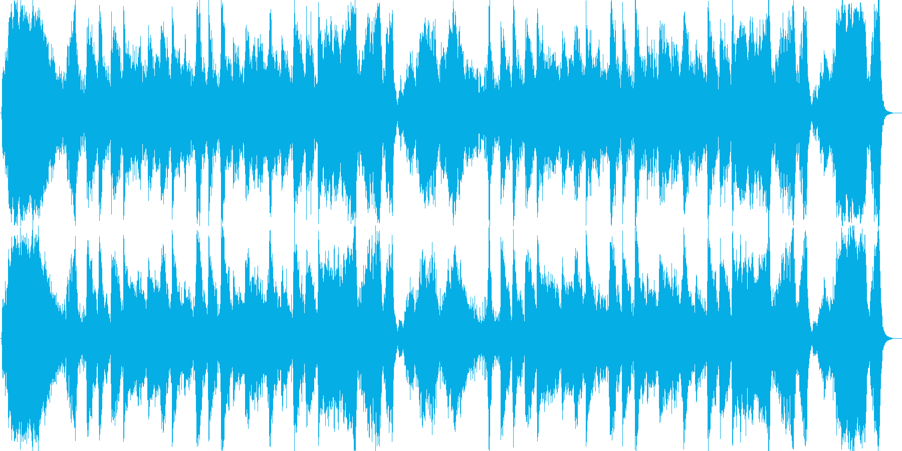 明るく壮大なシンセサイザーサウンドの再生済みの波形