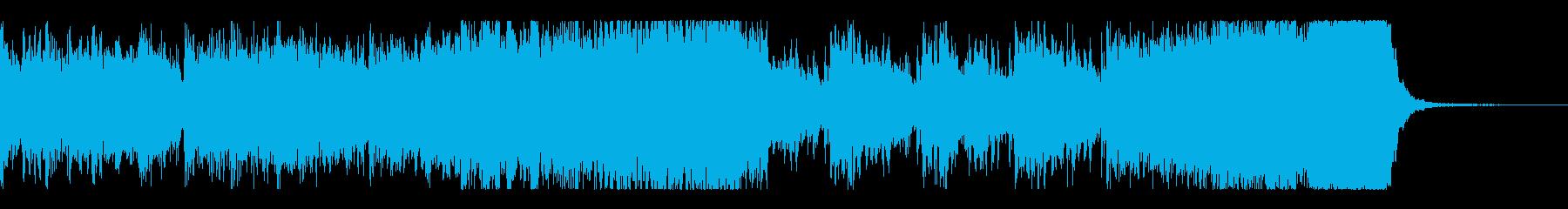 迫る恐怖ーシンセ・効果音・ダブステップの再生済みの波形