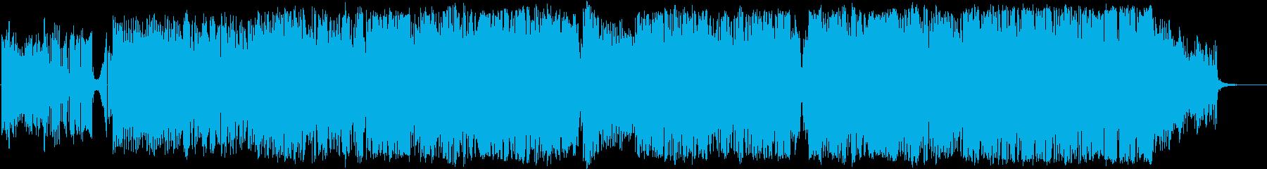 映像向け!華やかフルート×テクノポップの再生済みの波形