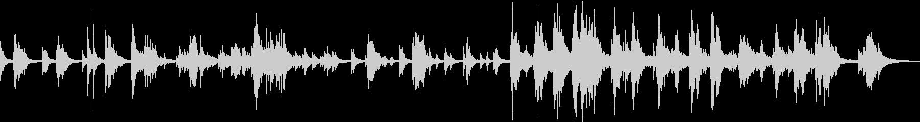 悲しい・切ないピアノバラードの未再生の波形