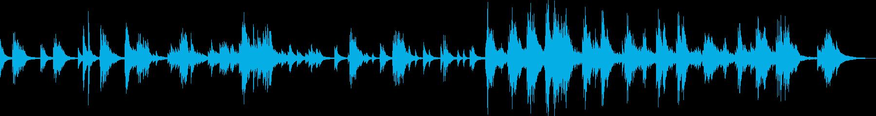 悲しい・切ないピアノバラードの再生済みの波形