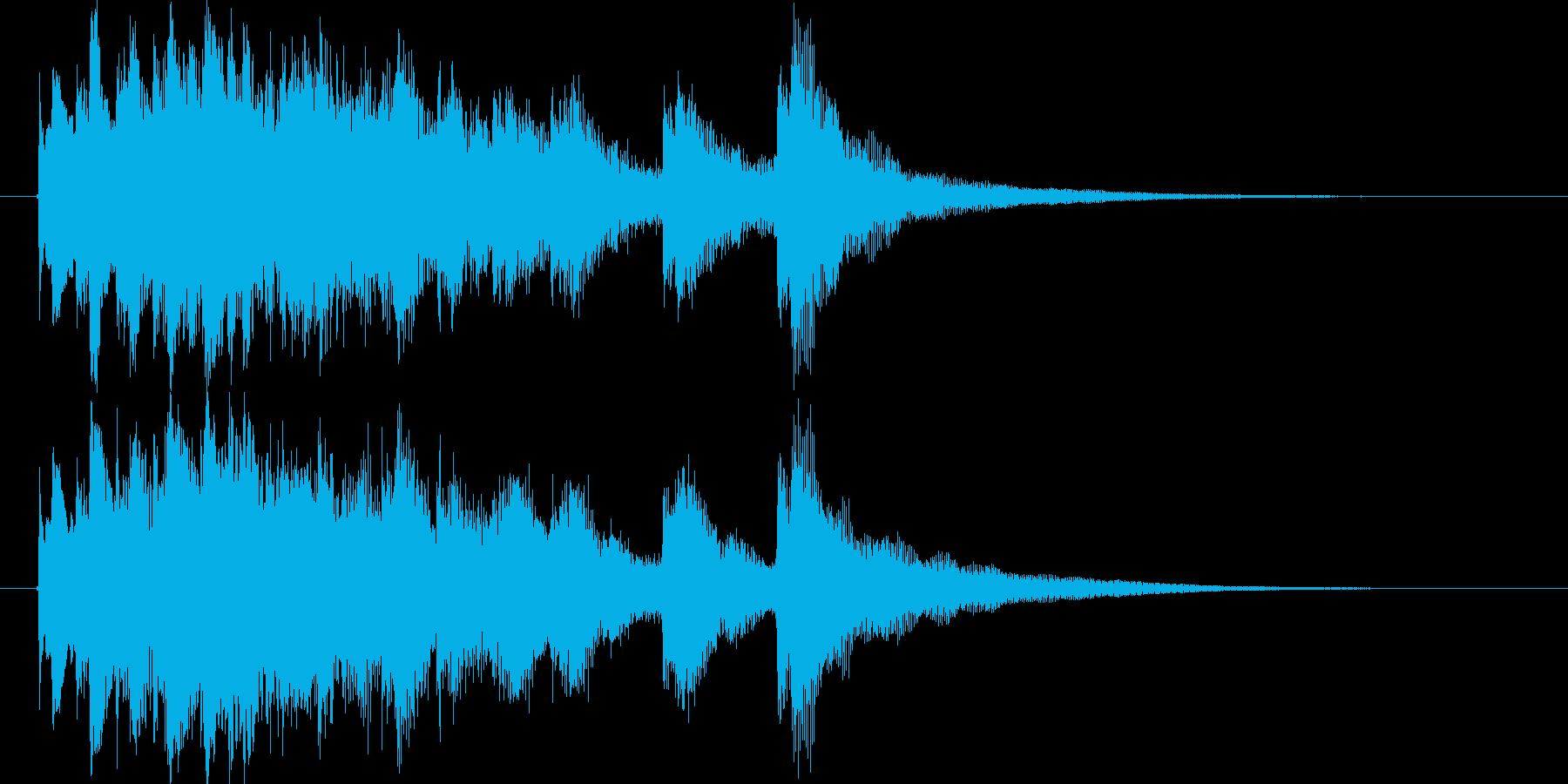 和風ショートジングル(琴)の再生済みの波形