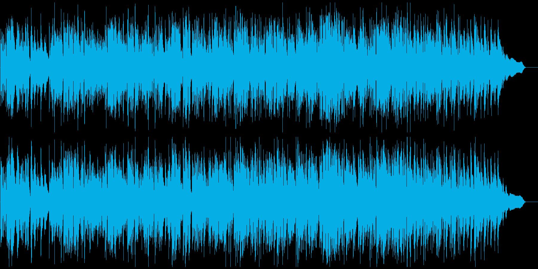 軽快リズムの爽やかジャズ、サックス生演奏の再生済みの波形