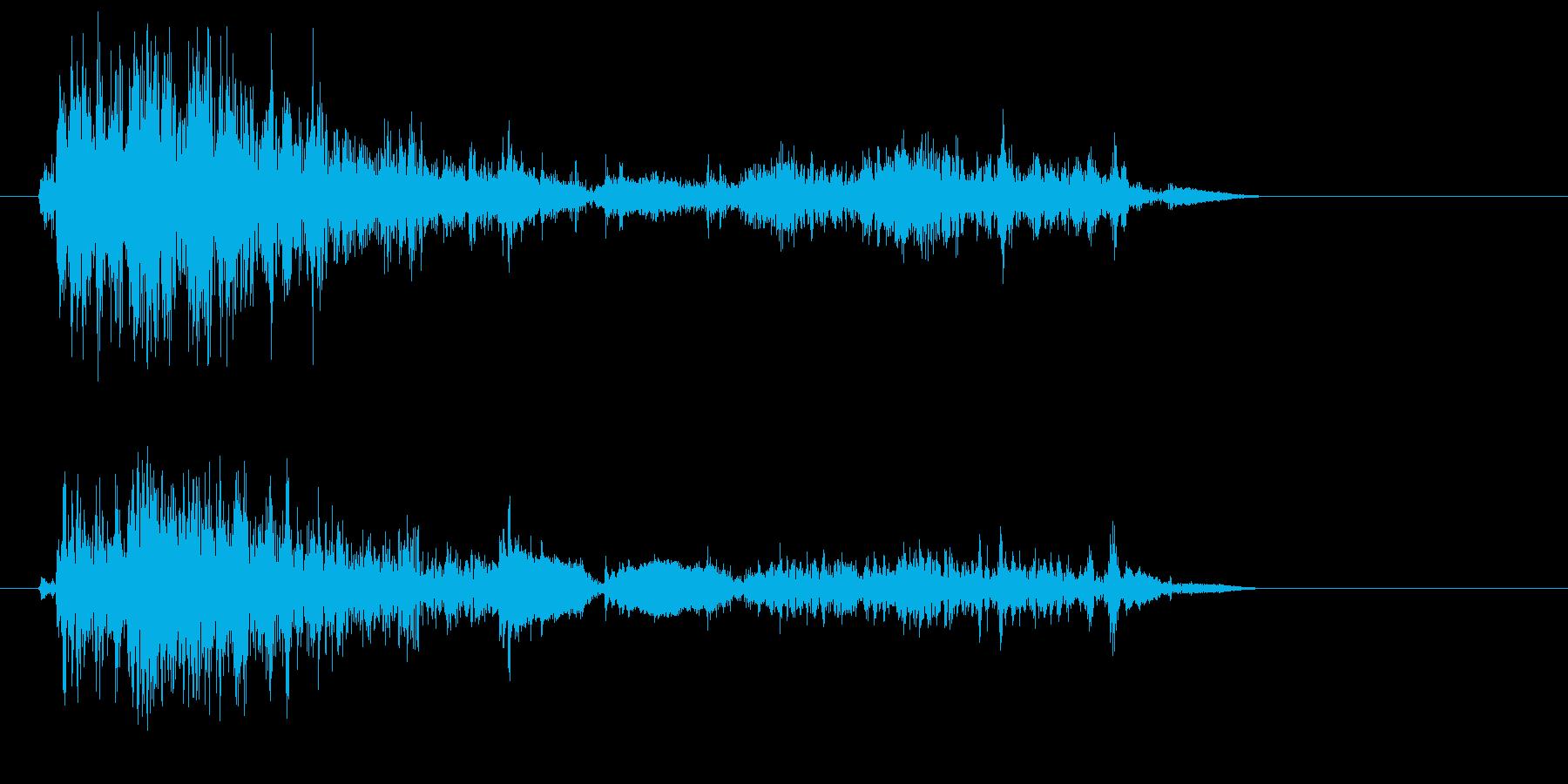 ジャリッ(砂、砂利、足音)の再生済みの波形
