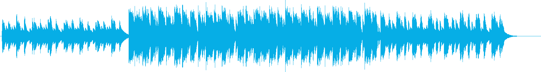 キラキラカワイイサウンドでエモい曲の再生済みの波形