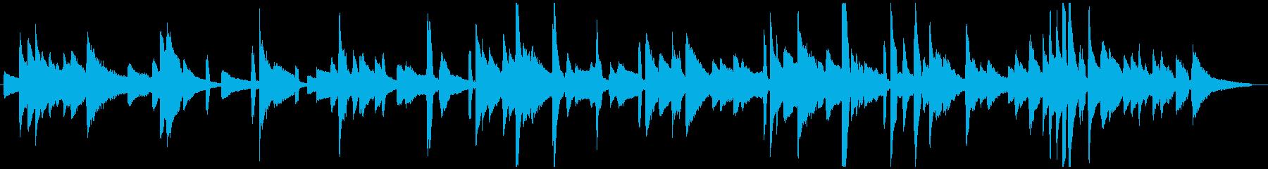 ゆっくりと揺れるピアノブルースの再生済みの波形
