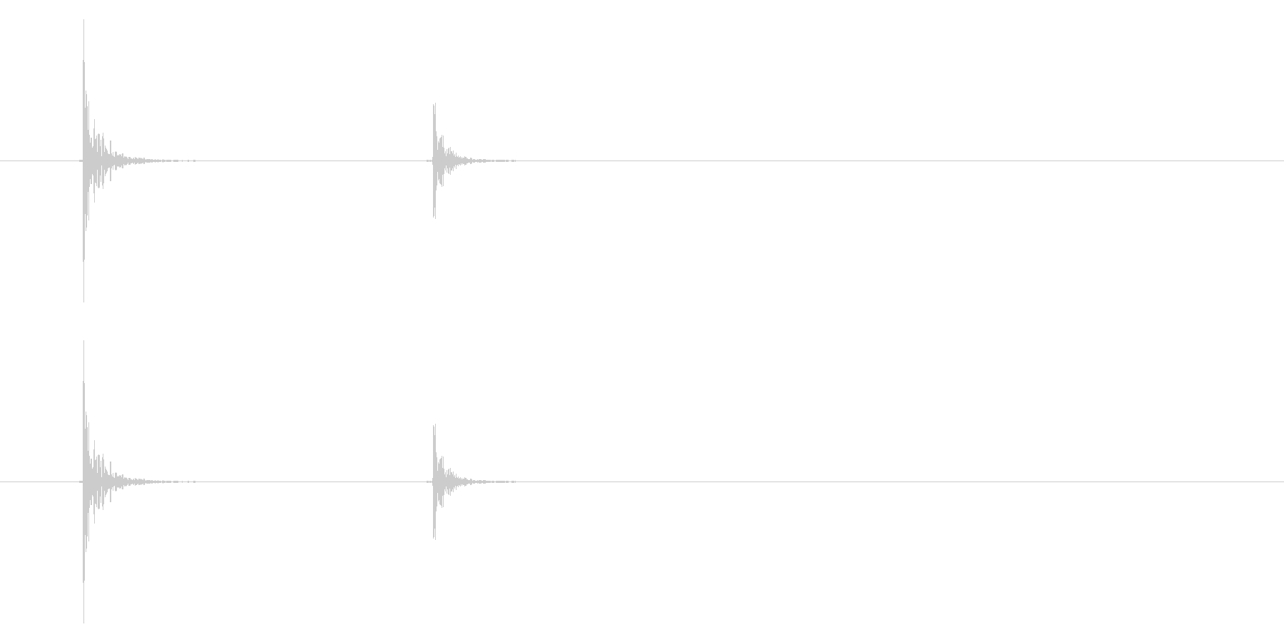 コト(コップを置く音)7の未再生の波形