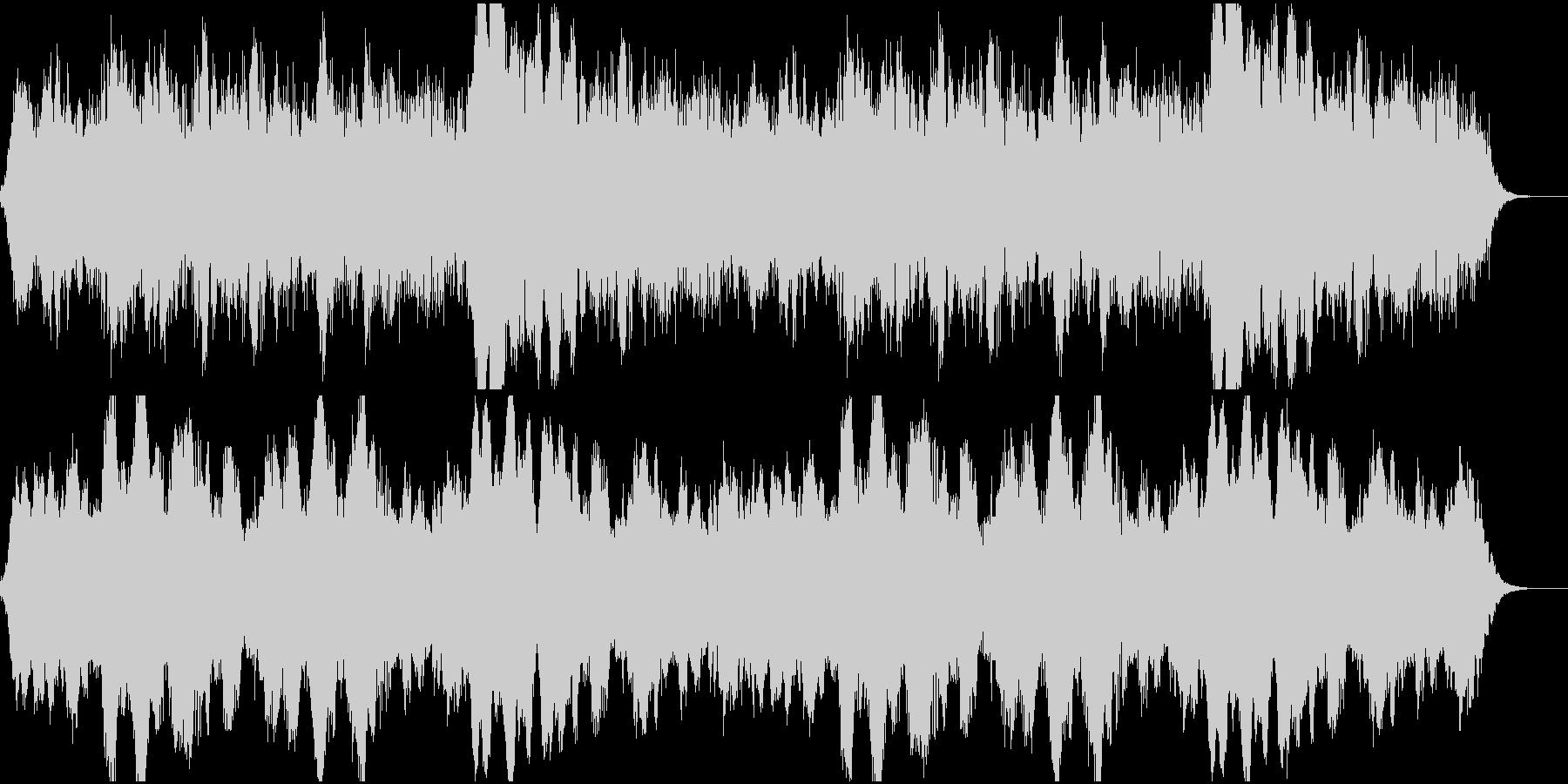 洋館探索ホラー系のBGMの未再生の波形