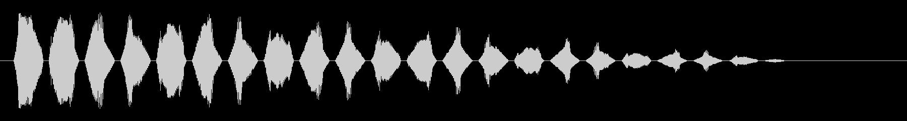 チリリリ(高く鋭い音)の未再生の波形