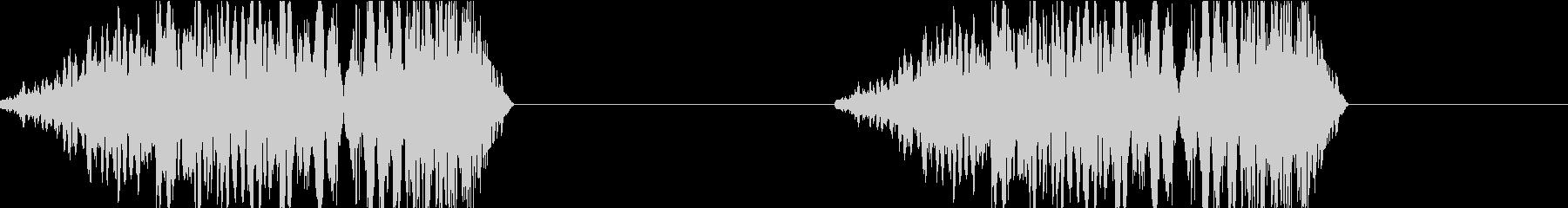 DJプレイ スクラッチ・ノイズ 192の未再生の波形