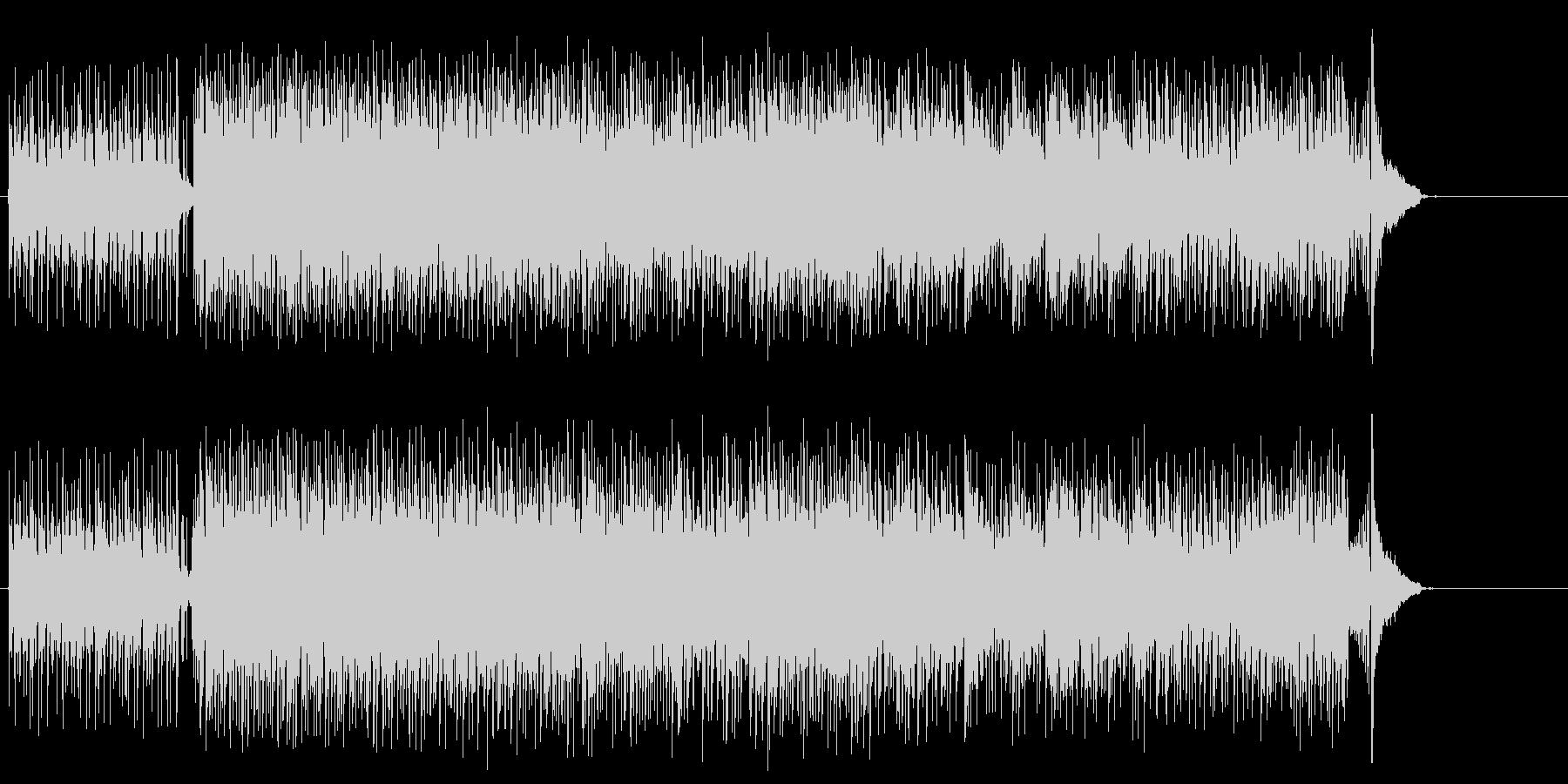 無機質なエレクトリック・ポップスの未再生の波形