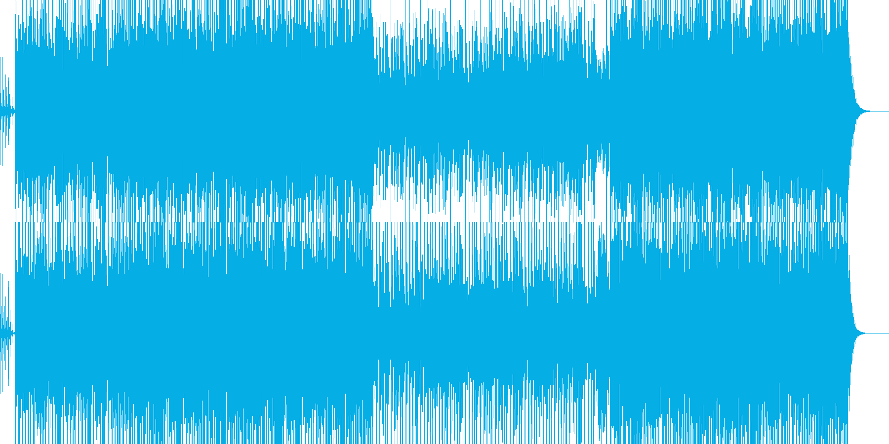 祭をイメージした和風BGMの再生済みの波形