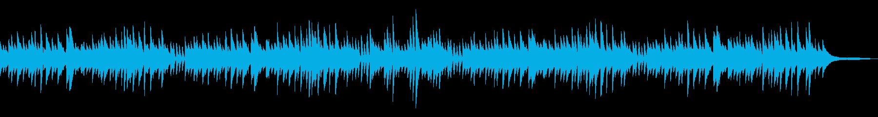 童謡「春が来た」シンプルなピアノソロの再生済みの波形