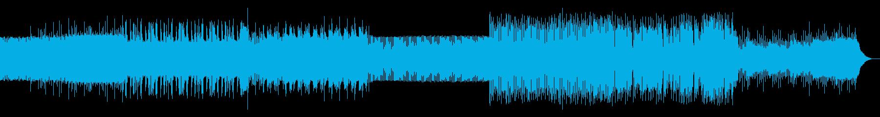 シンプルなアルペジオのテクノ07の再生済みの波形