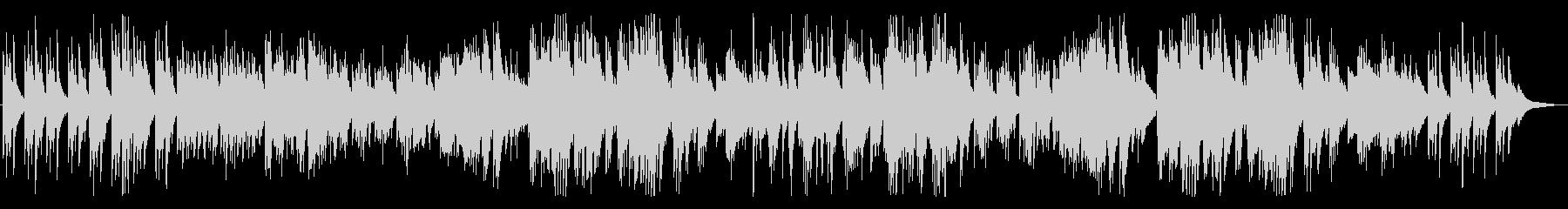 夜空、切ないメロディのピアノBGMの未再生の波形