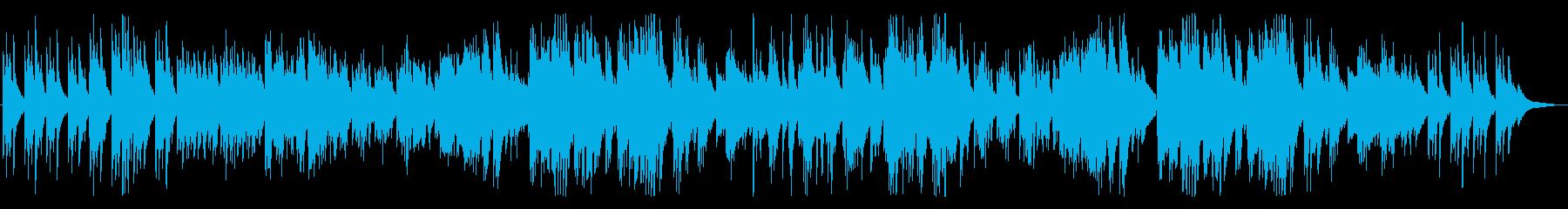 夜空、切ないメロディのピアノBGMの再生済みの波形