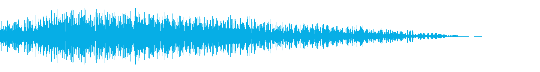 メニュー画面音(ウインドウ,決定等)11の再生済みの波形