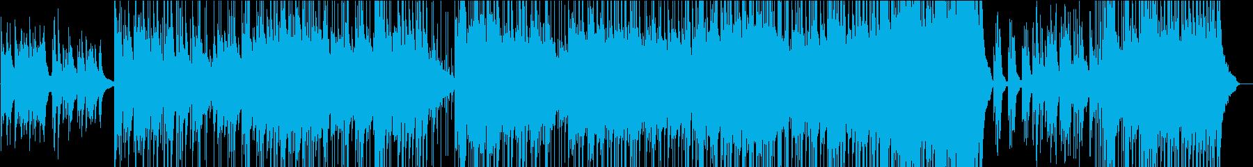 ピアノの旋律が印象的なバラード曲の再生済みの波形