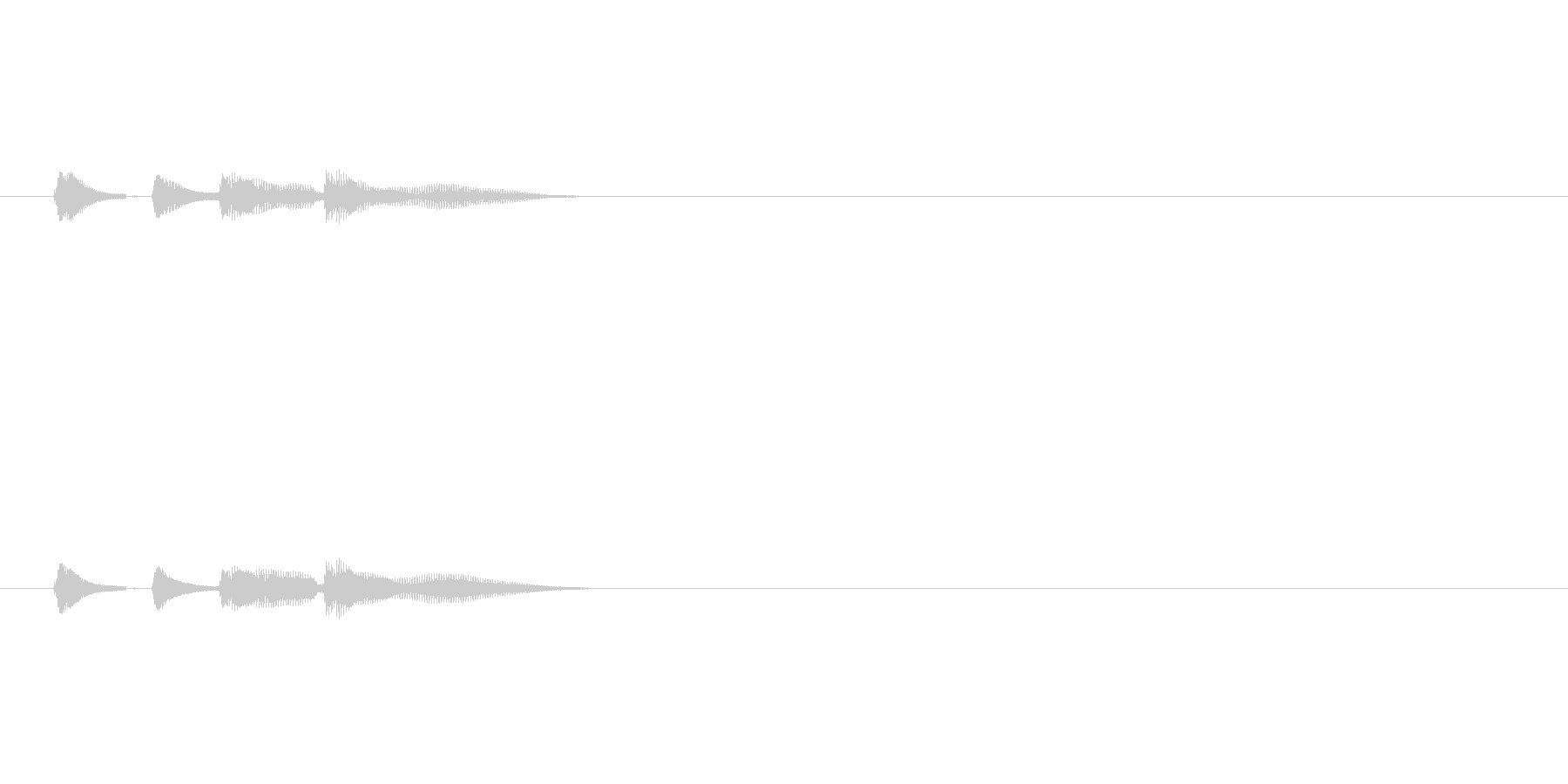 短い三味線のフレーズの未再生の波形