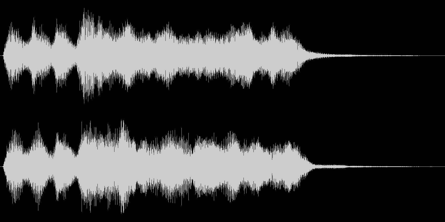 レベルアップやミッションクリアジングル の未再生の波形