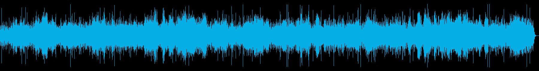 水と鳥の囀りとピアノのヒーリング曲の再生済みの波形