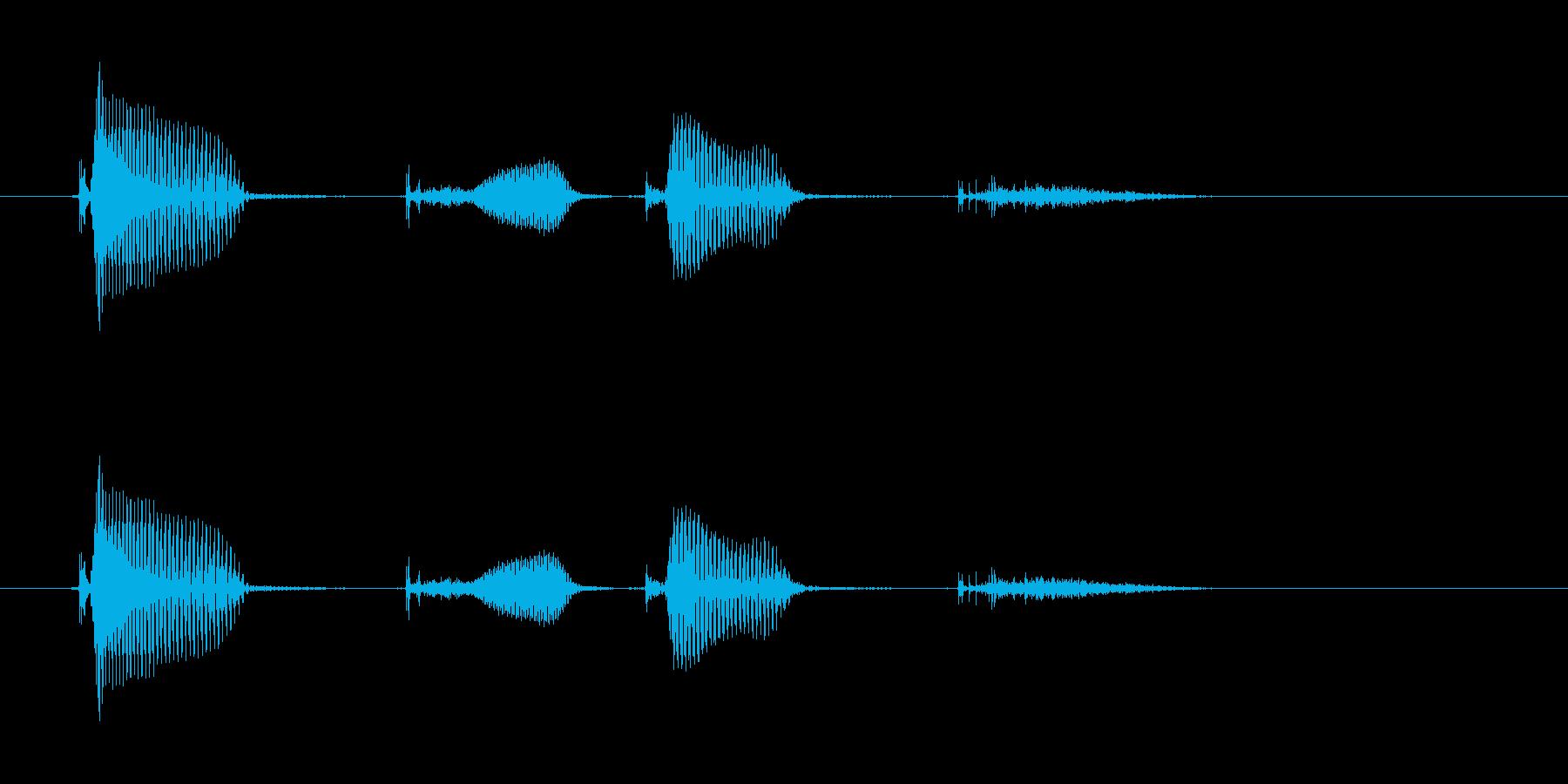ドキドキの再生済みの波形