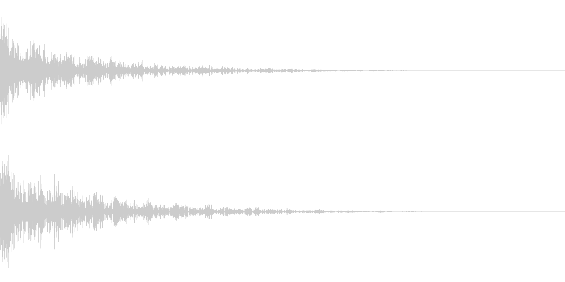 ドーン-15-2(インパクト音)の未再生の波形