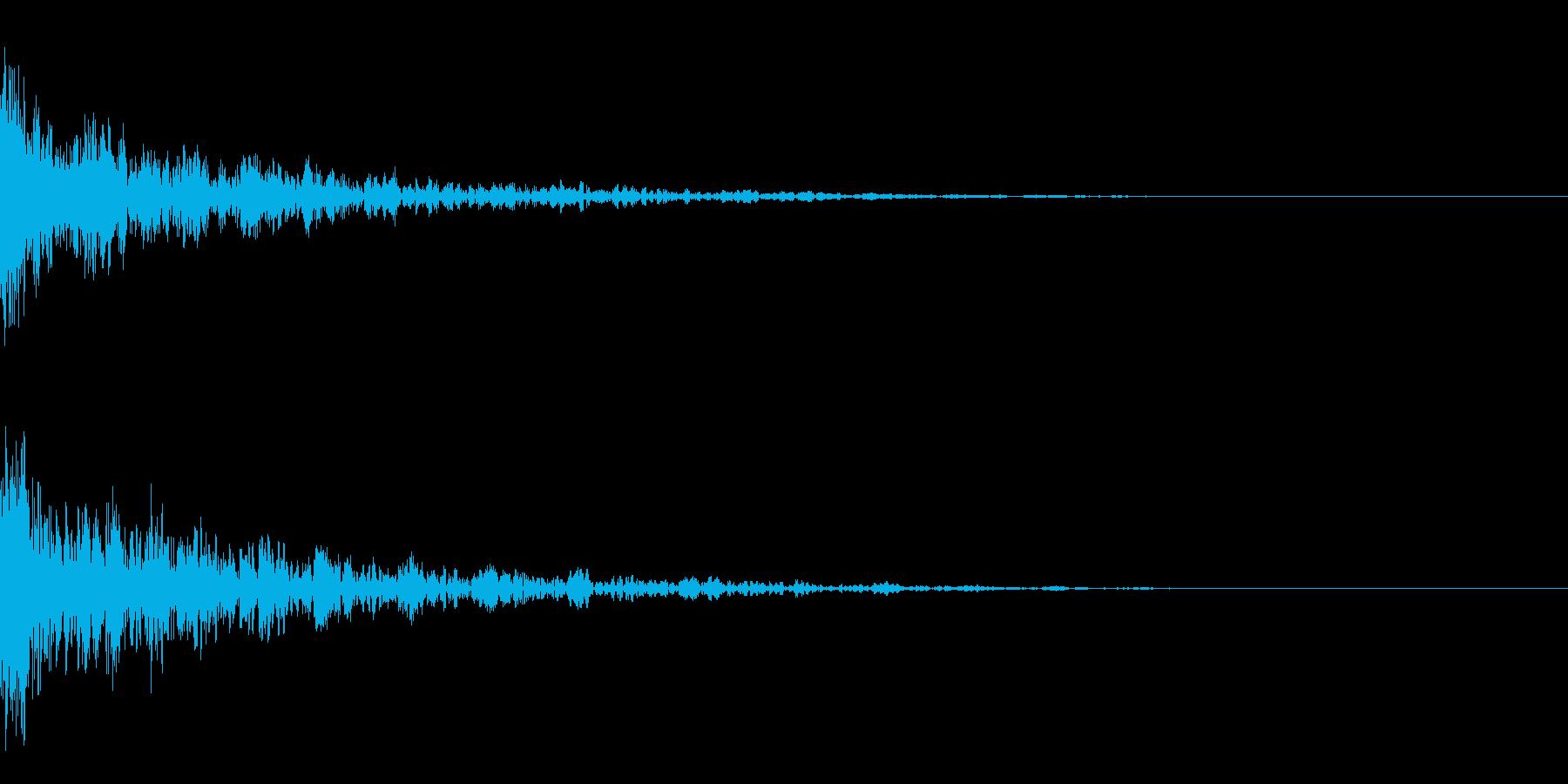 ドーン-15-2(インパクト音)の再生済みの波形