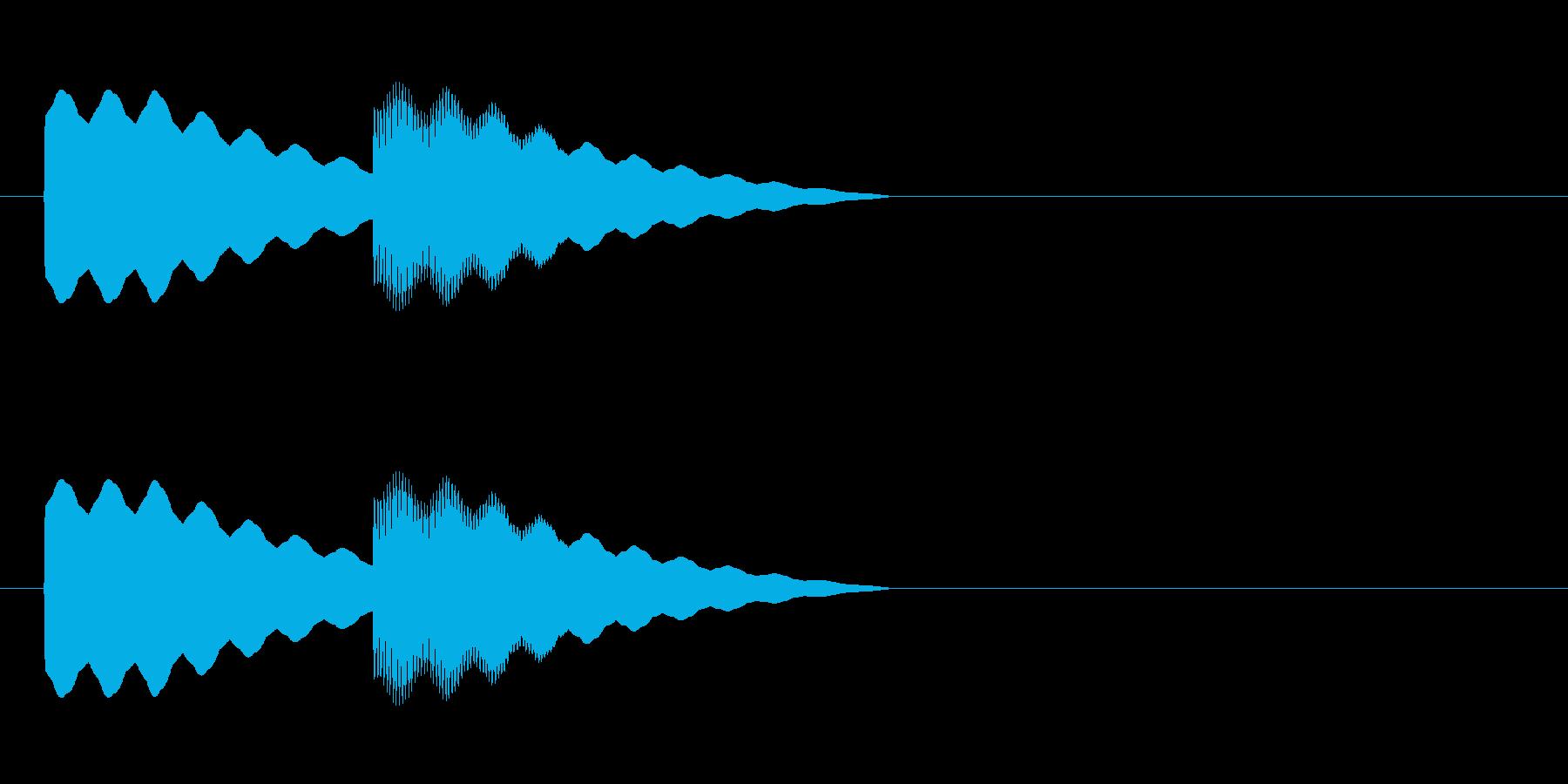 【ドアベル ピンポン01-1】の再生済みの波形