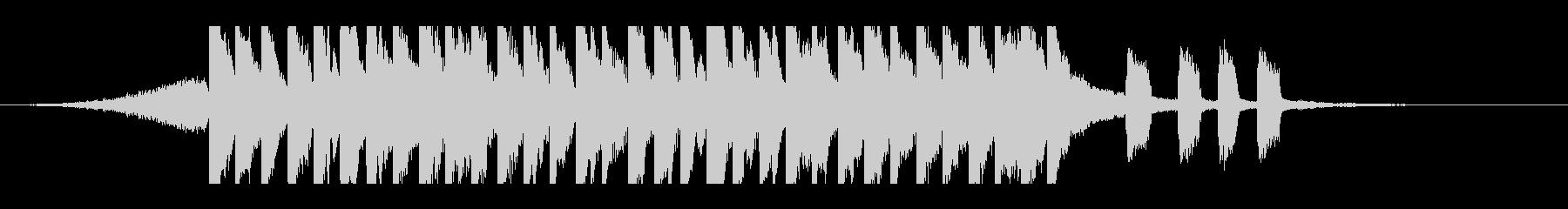 ハッピーポップ(15秒)の未再生の波形