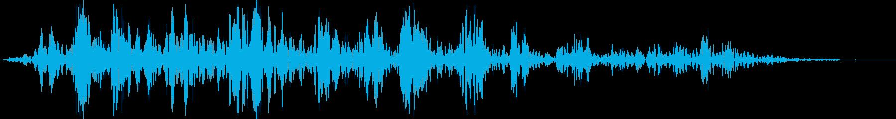 雷爆発2の再生済みの波形
