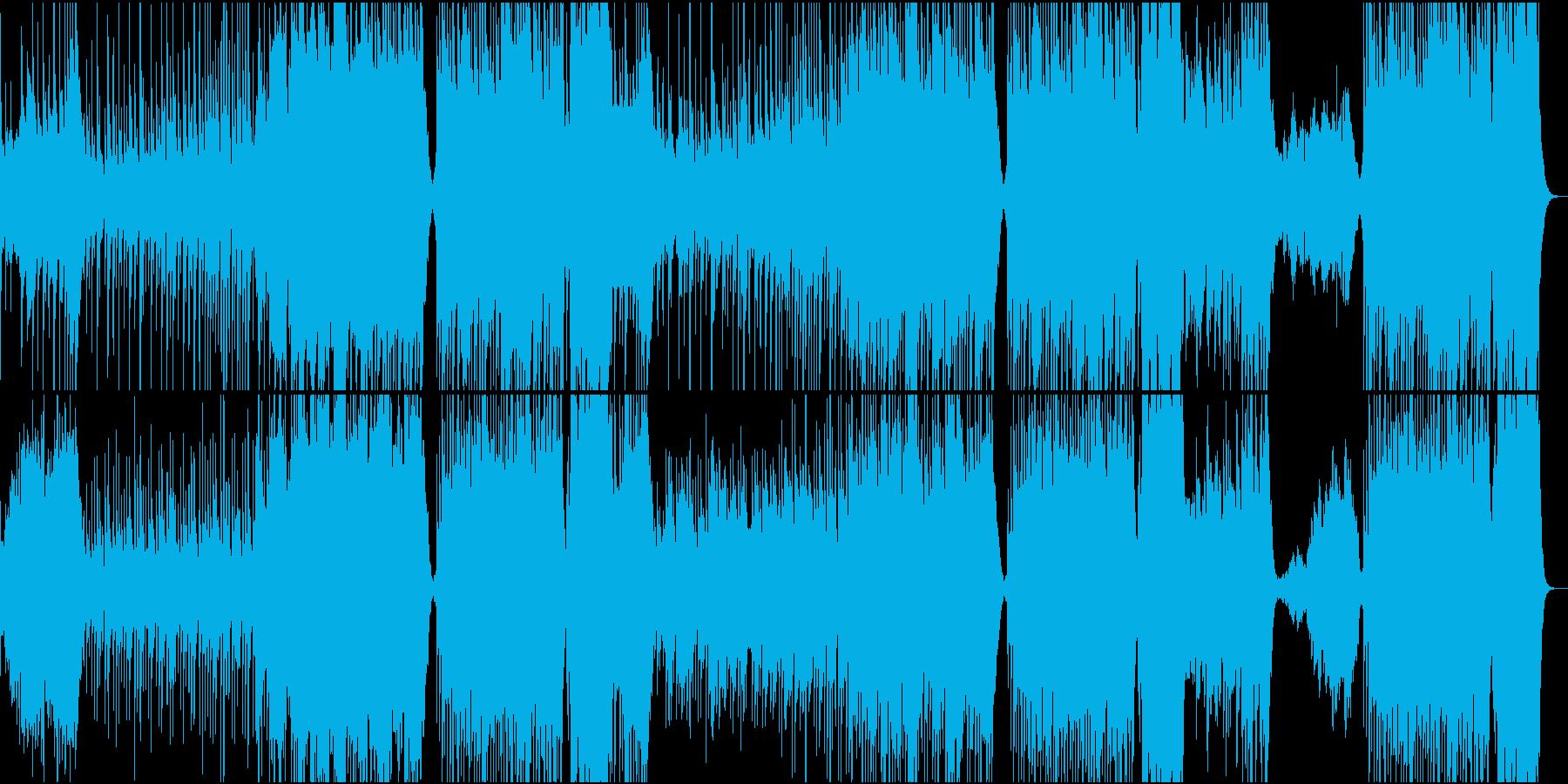 和風曲 古風の再生済みの波形