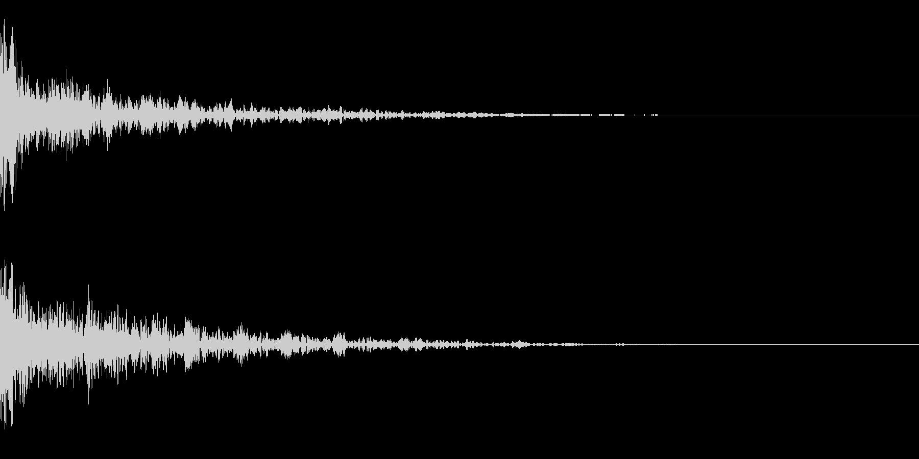 ドーン-33-2(インパクト音)の未再生の波形