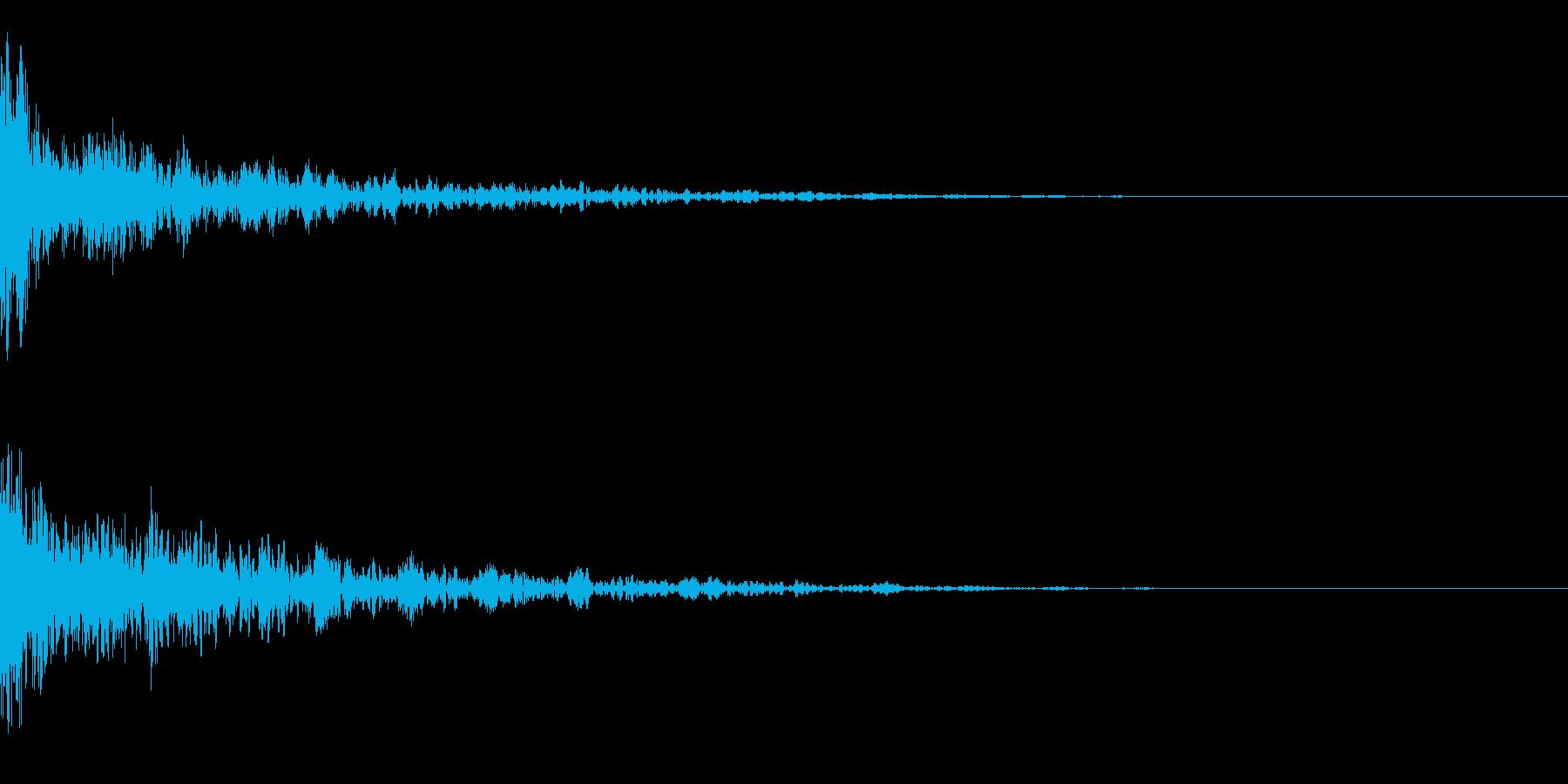 ドーン-33-2(インパクト音)の再生済みの波形