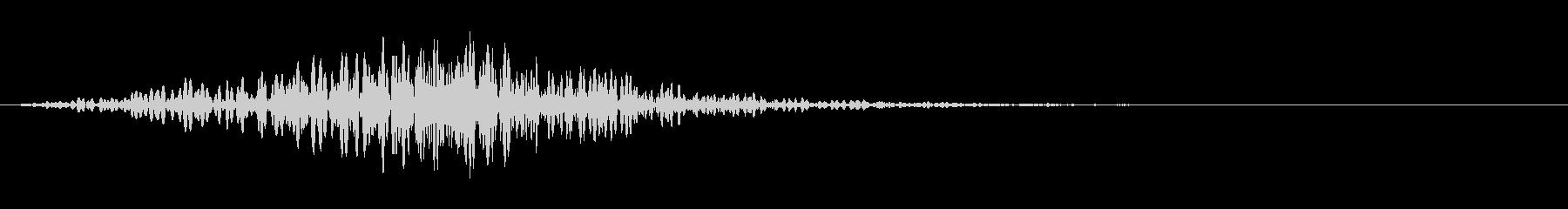 ラティゴ4をシューッという音の未再生の波形