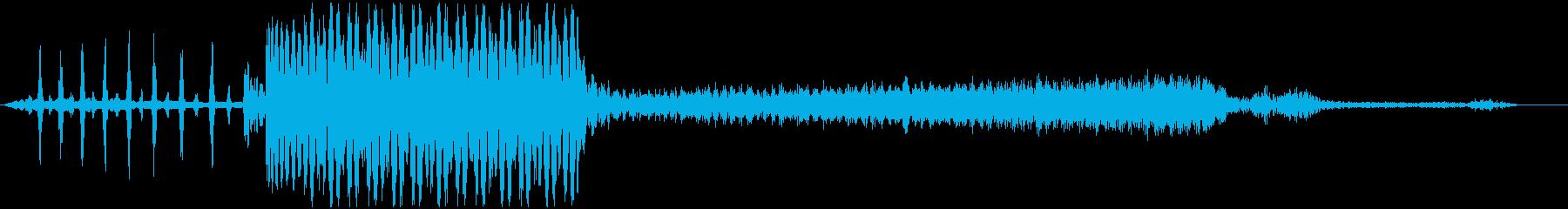 コンピュータのビープ音の再生済みの波形