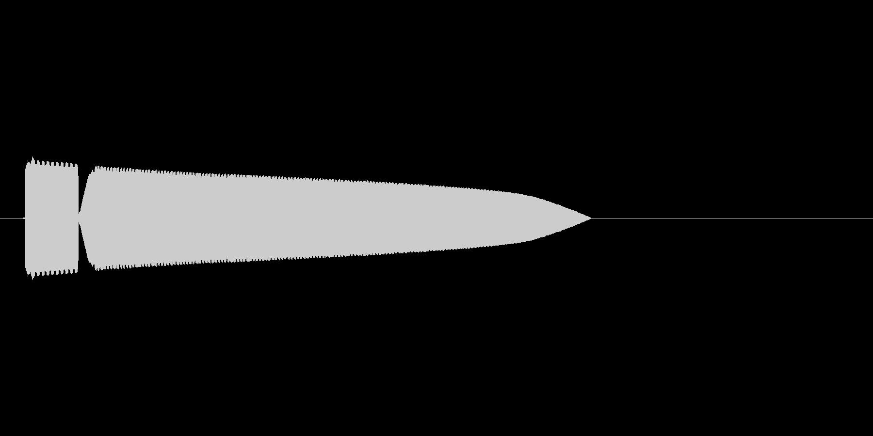 8bitの氷魔法 ピキーンの未再生の波形