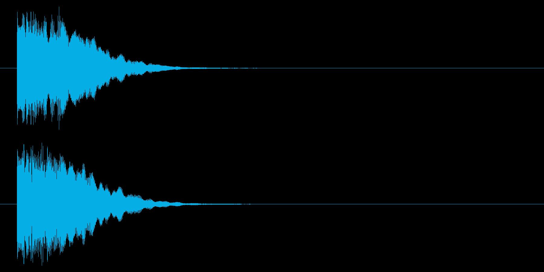 チャージ完了/決定音/レベルアップの再生済みの波形