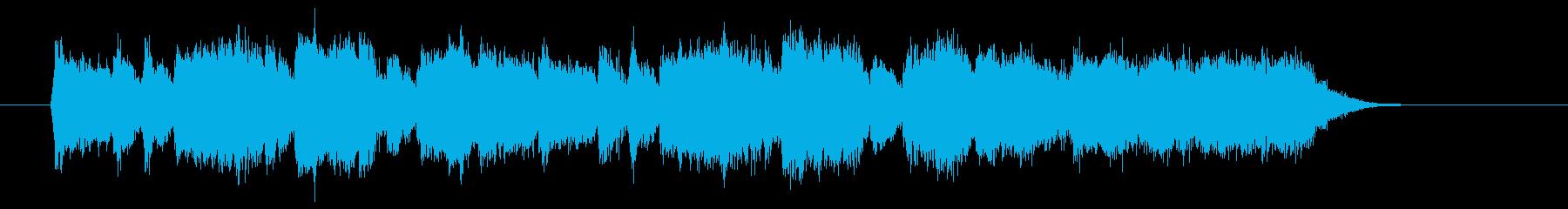 優しく美しいシンセオルガンサウンドの再生済みの波形
