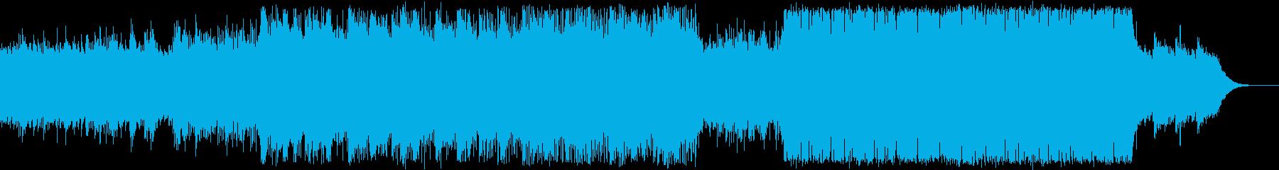 冷たい空気をイメージしたエレクトロの再生済みの波形