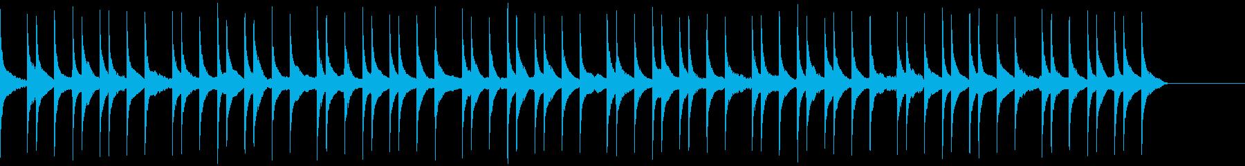 和風っぽい雰囲気のBGMの再生済みの波形