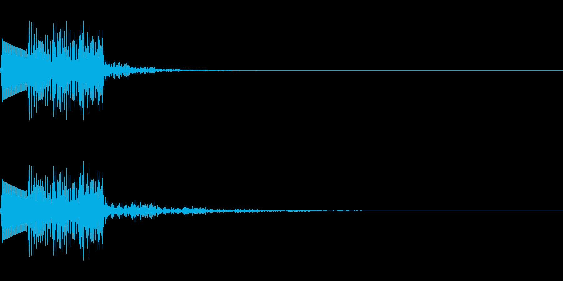 ティリリリ(ミス/死亡/失敗/ファミコンの再生済みの波形