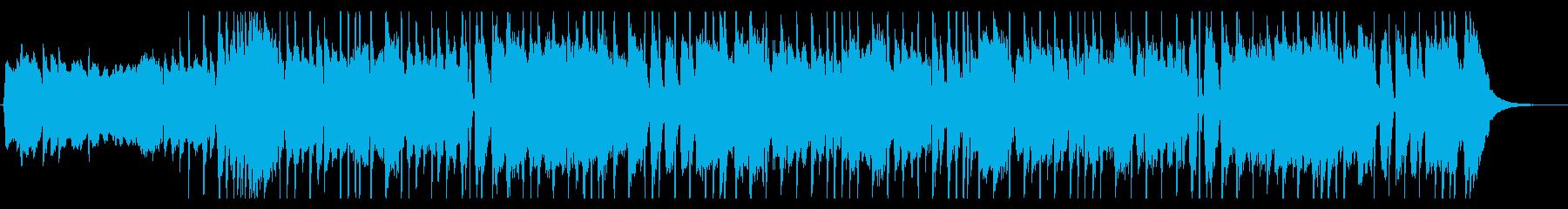 ロックギターリフ6の再生済みの波形