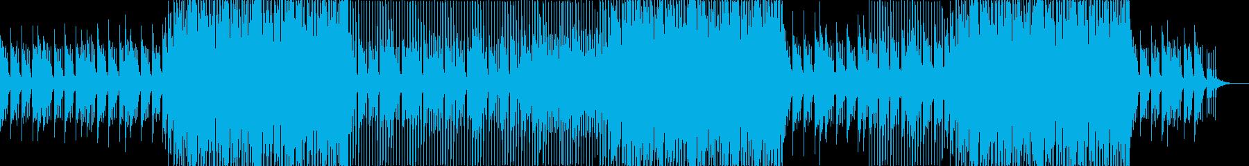 可愛らしい雰囲気のポップス曲の再生済みの波形