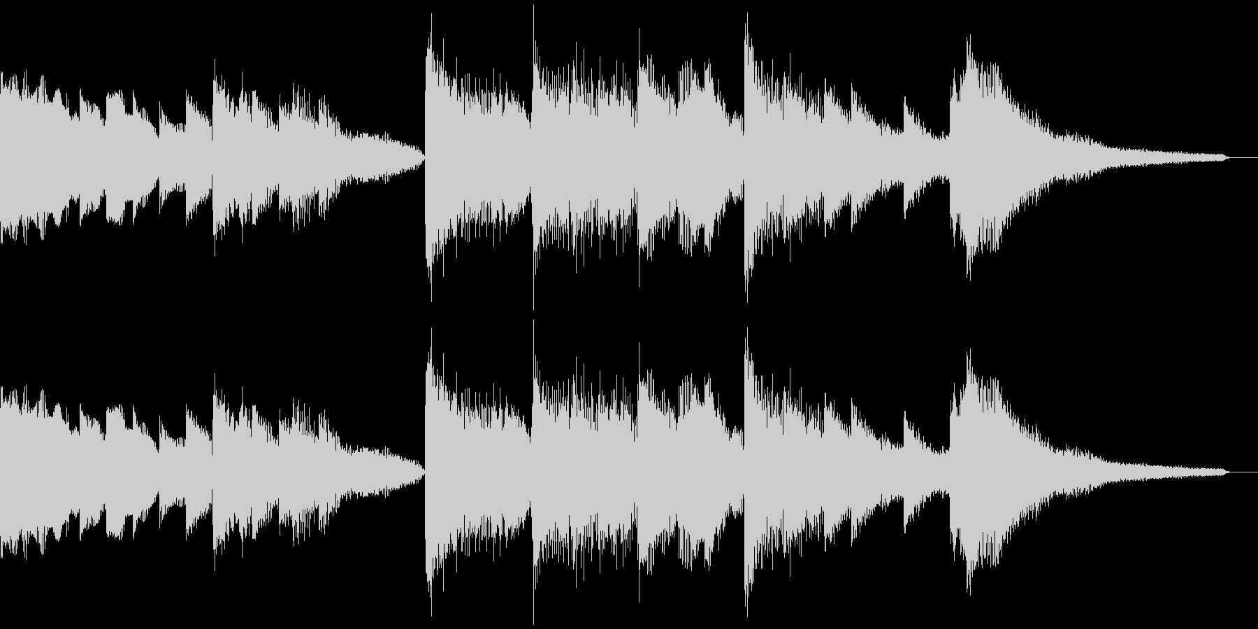 エレクトリックピアノで作ったジングルの未再生の波形