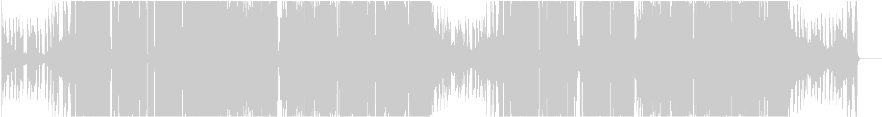デジタルハイブリッドなヒップホップの未再生の波形