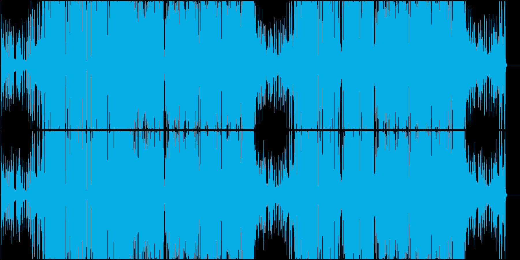 デジタルハイブリッドなヒップホップの再生済みの波形